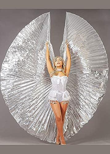 bienvenido a comprar Magic Box mujer Festival Festival Festival Large Carnival plata Showgirl Wings  gran venta