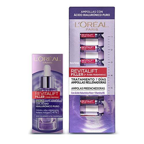 L'Oreal Paris Dermo Expertise Revitalift Filler - Sérum con Ácido Hialurónico Puro + Tratamiento Ampollas Ácido Hialuronico