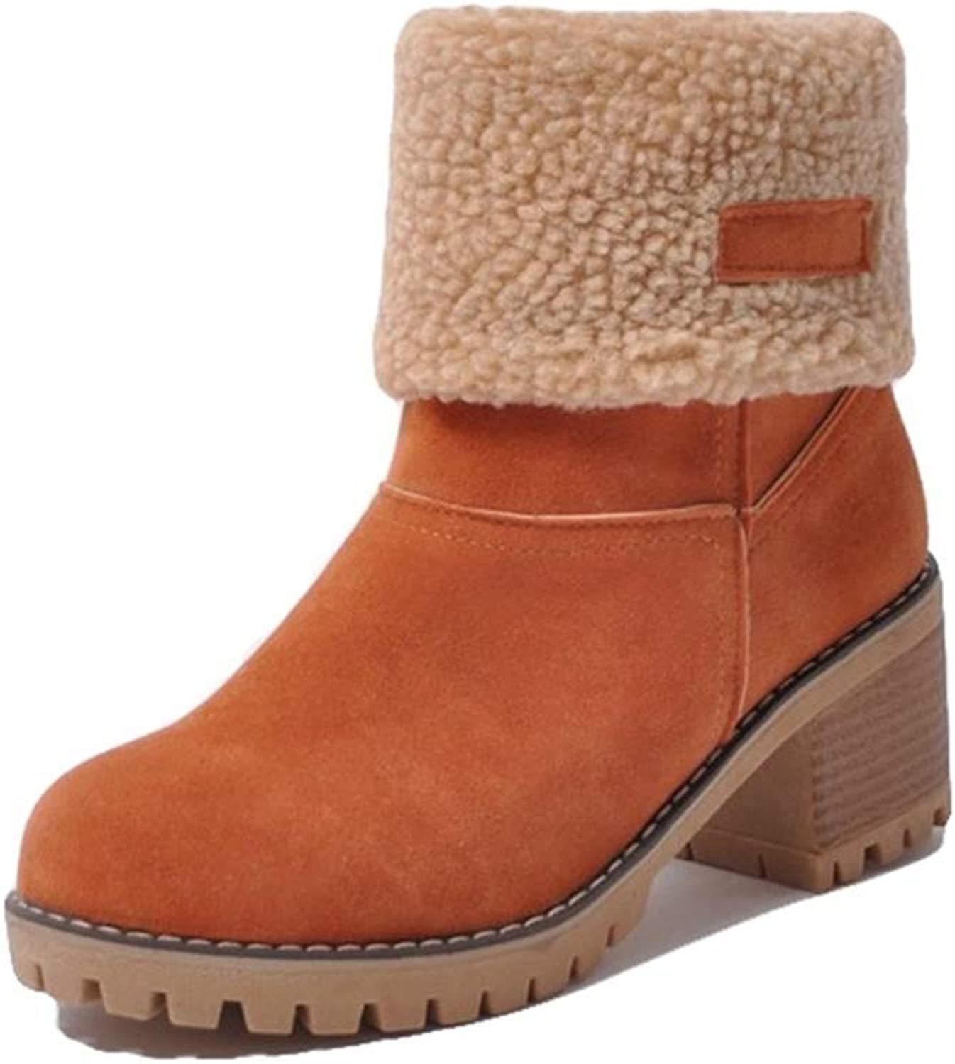 c2572f57c93c0 August Jim Womens - High Winter Warm Short Ankle Boots for Women ...
