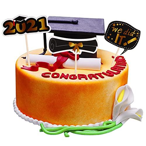 UPKOCH 36 decorazioni per torta graduata 2021 Congrats Graduation Cake Topper per torta torta torta torta torta torta topper laurea festa