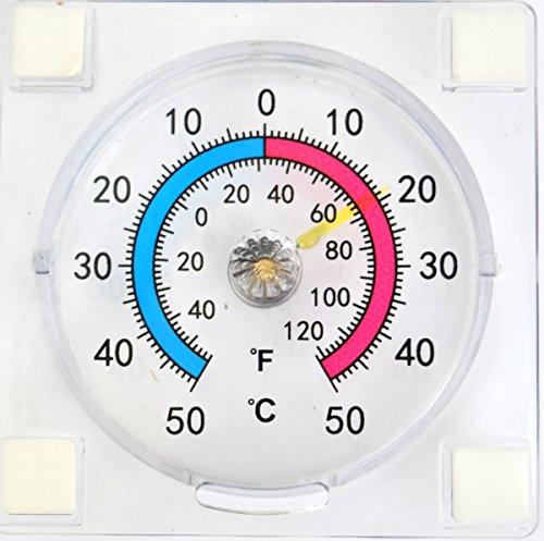 Termómetro para pegar en la ventana, lee temperatura del exterior desde el interior, de -50a 50 gradoscentígrados