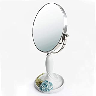 Makeup Mirror European Style Creative Style Double Sided Desktop Mirror with Portable Vanity Mirror (Size : S 6inches)