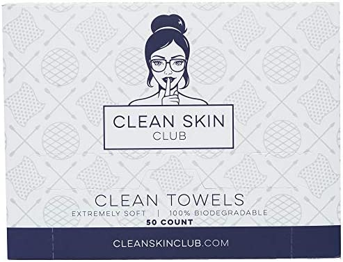 Clean Skin Club Clean Towels XL World s 1ST Biodegradable Face Towel Disposable Makeup Removing product image