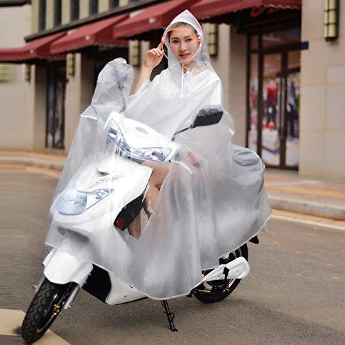 ZWYM Großer transparenter Reitponcho Motorrad Electrombile Rainwear Herren Damen Regenmantel PVC Winddichter Regenmantel für Female-B_3XLWasserdichte Regenjacke