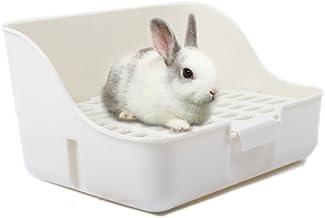 M-Aimee Square Potty Trainer Corner Litter Bedding Box Pet Pan for Small Animal/Rabbit/Guinea Pig/galesaur/Ferret(White Color)