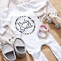 Personalised New Born Baby Grow