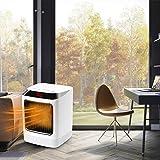 AGKupel Heizlüfter,Energiesparend Keramik Heizlüfter mit 2s Schnellheizung 7-Farbige LED-Leuchten Ventilator Heizlüfter,3 Modi Heizlüfter Leise für Schreibtisch Heimbüro Küche Schlafzimmer