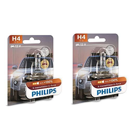 Philips H4 XtremeVision G-Force Car headlight bulb (12V, 55W)- 2 bulbs