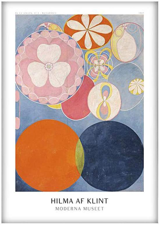 LCMGGJ Hilma Af Klint Exhibition Posters and Prints Af Klint Abstract Canvas Paintings Scandinavian Swedish Wall Art Home Decor Pictures 40x50cmx1 No Frame