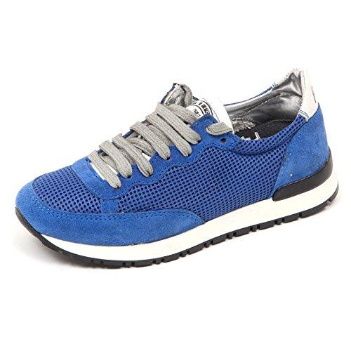 P448 D2846 Sneaker Donna Alabama Tissue Blue Shoe Woman [35]