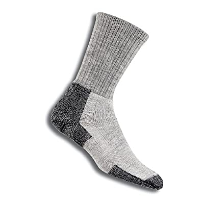 Thorlos Unisex KLT Hiking Thick Padded Crew Sock, Grey, Medium