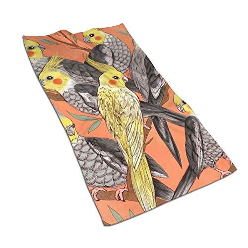 Genertic 27,5 x 15,7 in Asciugamano a Forma di Pappagallo in Piedi su Un Ramo Morbido, Super Assorbente, Morbido Asciugamano in Cotone Personalizzato