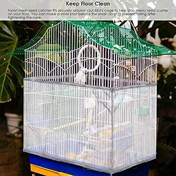 Gojiny Filet de cage à oiseaux réglable avec cordon de serrage pour cage à oiseaux