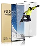 [2 Pack] Galaxy Note 20 Ultra Tempered Glass Screen Protector [9H Hardness] [3D Full Coverage] [Fingerprint Sensor] Screen Glass HD Protective Film for Samsung Galaxy Note 20 Ultra 5G