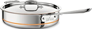 All-Clad 6404 SS Copper Core 5-Ply Bonded Dishwasher Safe Saute Pan / Cookware,  4-Quart, Silver