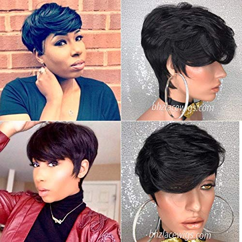 Exclusive//Funky Short crop cut wig Kandy bowl cut layers short wig FULL CAP WIG wig short style short black hair quickweave 27 piece