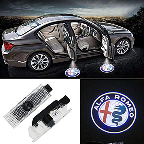 Grolish Car Door LED Logo Lighting Projector Welcome Lights For Alfa Romeo (2-Pack)