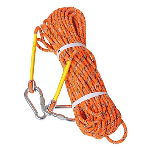 LUOOV Kletterseile,Felsenseil Sicherheitsseil, Sicheres Seil, Am Seil Rope, Felsen Seil, Statisches Seil, Durchmesser Seil, Feuer Seil Ausrüstung für Outdoor Wandern Zubehör,High Strength Cord 10M (32ft) 20M (64ft) 30M (98ft) 50M (160ft)