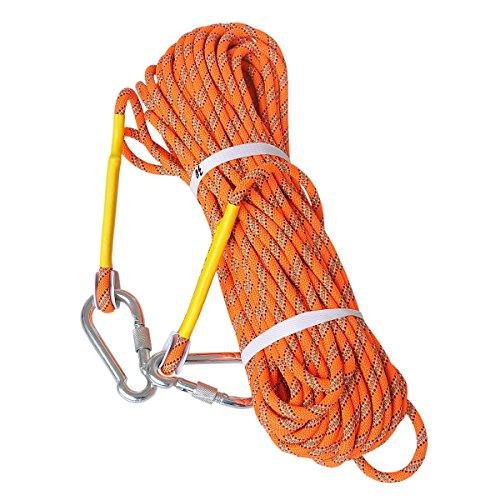 LUOOV Kletterseile,Am Seil Rope,Sicheres Seil, Felsen Seil, Statisches Seil, Durchmesser Seil,10M (32ft) 20M (64ft) 30M (98ft) 50M (160ft)