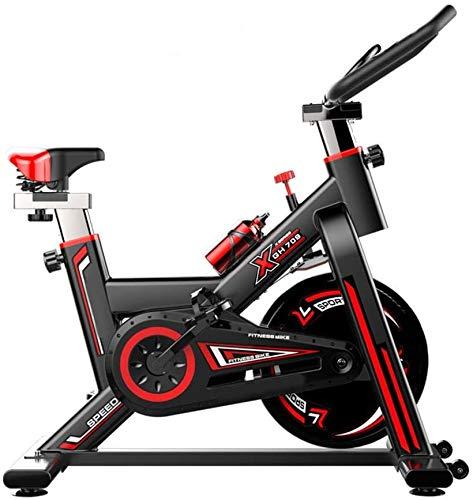 Bicicleta De Spinning Bicicleta De Ejercicio Para El Hogar, Bicicleta De Ciclo Silencioso Transmisión Por Correa Con Manillar Ajustable Asiento Volante Cromado Monitor De 5 Funciones Fitness Bike