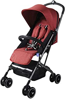 Compact Lightweight Stroller for Toddlers,Pushchair, Buggy,with Reclining Backrest, with one Hand Fold, Extendable Hood Ultraviolet-proof,for Airplane Baby Stroller