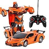 1: 18 Roboterauto Elektrisch Fernbedienung Transformator Auto Spielzeug EIN Knopf Wird zum Roboter hohe Energie Stunt RC Car Weihnachten Spielzeug Geschenke für Kinder Kleinkinder Jungen