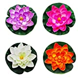 Floating Stagno Decor Ninfea/Lotus Schiuma Fiore, S (set di 4)
