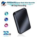 Sekuai Digital Voice Recorder, 8000mh Power Bank Up to 60 Days Continuous Recording