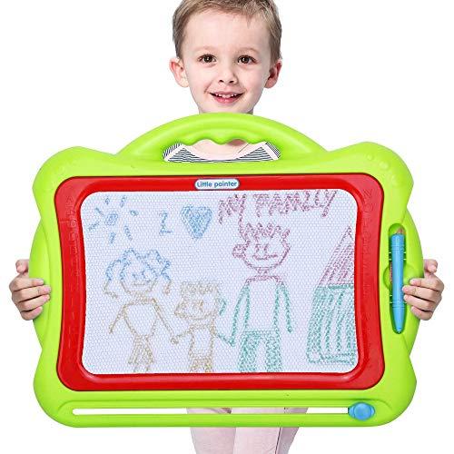 YIBOKANG Magnetische Zeichnungsplatine Gross KÖNNEN Wiped Gekritzelplatte Spielzeug, Cartoon Nette Blaue Stift Zeichenbrett, Start Zeichnung Gekritzel Pad Kind Jungen Mädchen Geburtstagsgeschenk