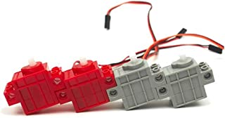 seeed studio 360° Red Color Geek Servo & 270° Gray Color Geek Motor with Wire for Lego/Micro:bit/Arduino/Raspberry Pi