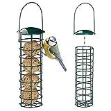 Mangeoire Suspendue pour Oiseaux, Mangeoire À Oiseaux Distributeur De Nourriture pour Mangeoires pour Boules de Graisse pour Boulettes, pour Petits Oiseaux Sauvages Vert Foncé