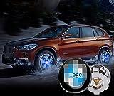 sooloon Magnetic Levitation Wheel Hub Center Caps LED Light Waterproof Battery-Free Automatic Power Generation Car Accessory for B-MW M M-INI 4Pcs