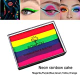 Bowitzki UV Glow Split Cakes Neon Rainbow Water actived Face Paints Body Painting Makeup 50g