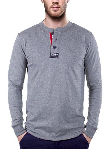 Woldo Athletic T-shirt à manches longues Polo de rugby à manches longues col rond - -