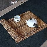 Chemin de table WXF Chemin de table en bambou naturel, tapis de table basse for salle...