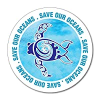 Save Our Oceans Turtle sea Blue Environment Sticker