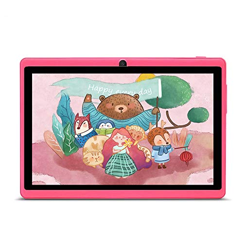 Haehne 7 Zoll Tablet PC Google Android 44 Quad Core A33 8GB ROM Zwei Kameras Bluetooth WiFi Rosa