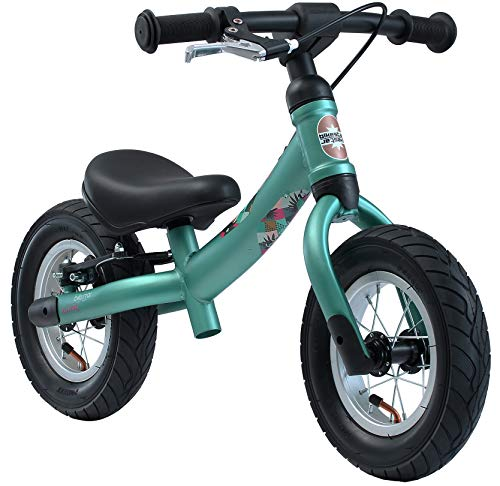 BIKESTAR 2-en-1 Bicicleta sin Pedales para niños y niñas 2-3 años | Bici con Ruedas de 10' Edición Sport | Verde