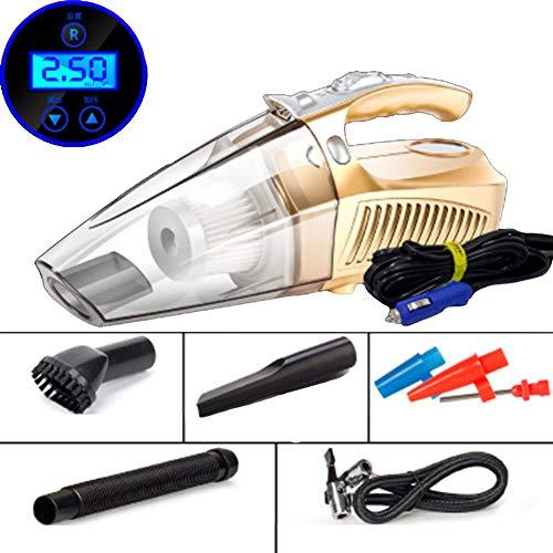 Saman Aspirateur Voiture avec Lumière LED,Aspirateur À Main Haute Puissance,DC 12V 100W 3000PA Sec/Humide Portable,1 Filtres HEPA, Cordon d'alimentation De 4.2M