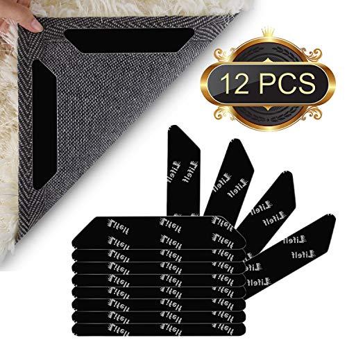 Lifelf Teppich Anti Rutsch Unterlage, 12 Stück Anti Rutsch Teppichunterlage aus 3M Antirutschmatte...
