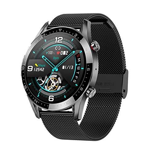 LHL GT05 Bluetooth Call Health Monitoring Control Remoto Ultra-Delgado Reloj Inteligente Hombres Y Mujeres Presión Arterial Tasa De Corazón Rastro De Fitness Pulsera Deportiva,B