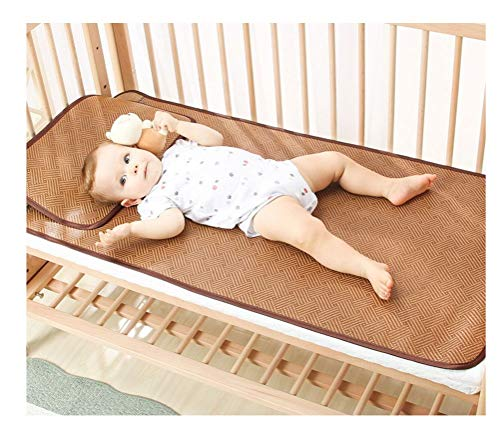 Colchón de verano para bebés Colchón cómodo y fresco para bebés Colchón de fibra de plantas impermeable para bebés Fácil de fregar Todo tipo de colchones de verano grandes para bebés Colchón tejido a