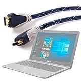 DURAGADGET Cable HDMI De Audio Y Vídeo para Ordenador portátil ASUS D540SA-XX620T | F540YA-XX078T | X540LA-XX265T | F541UA-XO242T | D540SA-XX620T - 1.4m - Conexiones Chapadas En Oro HD