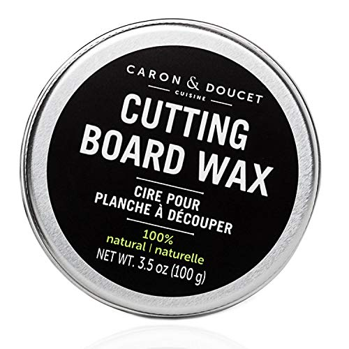 Caron & Doucet - Cutting Board & Butcher Block Wood Conditioning & Finishing Wax | 100% Plant-Based & Vegan, Best for Wood & Bamboo Conditioning & Sealing | Does NOT Contain Mineral Oil!