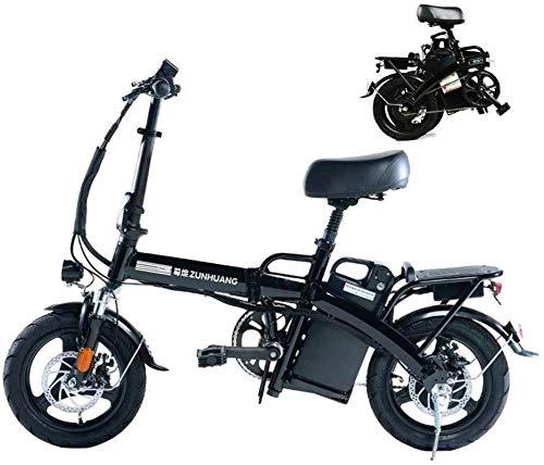 Bicicleta eléctrica de nieve, Bicicletas for adultos plegable eléctricos Comfort bicicletas híbridas bicicletas reclinadas / Road de 14 pulgadas, extraíble máxima 28AH a prueba de polvo y una batería