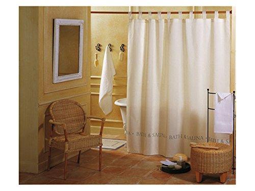GELCO Textil-Duschvorhang 'BATH und SAUNA' Vorhang in 180x200 cm - beschwerter Saum - beige - GELCO DESIGN