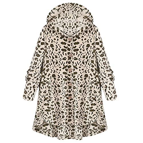 KAMEIMEI Warme Manteljacke Für Damen Oversized Zip Down Hooded Coat Strickjackes with Pocket Outwear Jacke Jacke Wintermantel Windbreaker