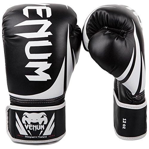 Venum Challenger 2.0 Boxing Gloves - Black/White - 14-Ounce