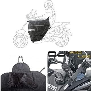 Compatible avec Yamaha NEOS 50 4T 2013 13 Tablier Etanche OJ JFL-TD Couverture Thermique pour Scooter avec Doublure DOUBL/ÉE ET Cheveux SYNTH/ÉTIQUES Pro Leg Noir
