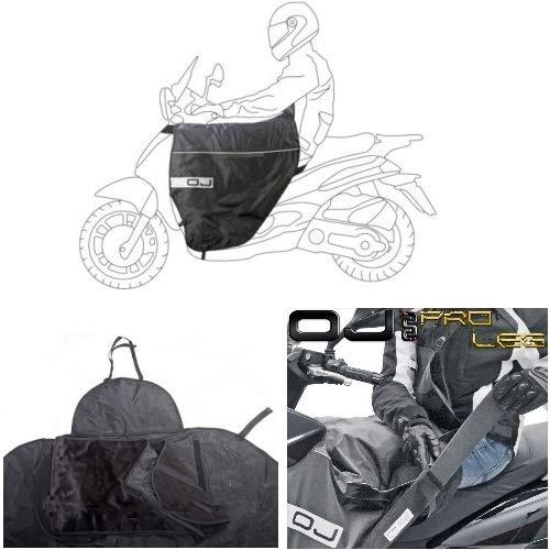 Compatibel met SYM MIO 100 2011 11 BEINBESCHERMING OJ JFL-TD TERMICA VOOR scooter met dubbele aanbieding TRAPUNTA EN LEG BLACK